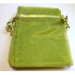 Organza Pouch XLarge 12 piece pack - Green