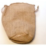 Gusseted Burlap Pouch Large 10 piece pack - Brown