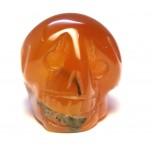 Skull 1 Inch Figurine - Carnelian Agate