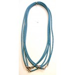18 Inch 3mm Braided Nylon Cord with Sterling Silver Clasp 5pcs Pack - Turquoise