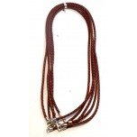 18 Inch 3mm Braided Nylon Cord with Sterling Silver Clasp 5pcs Pack - Medium Brown
