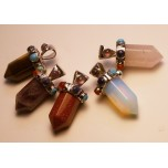 Gemstone Chakra Thick Point Pendant - Assorted Stones