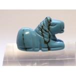 Horse Sitting 1 Inch Figurine - Howlite Turquoise