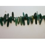 Irregular Gemstone Teeth Strand 16 Inches- Green