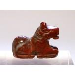 Horse Sitting 1 Inch Figurine - Rainbow Jasper