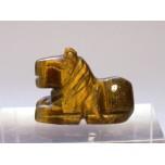 Horse Sitting 1 Inch Figurine - Tiger Eye