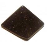 Pyramid 1 Inch Figurine - Blue Goldstone