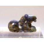 Horse Sitting 1 Inch Figurine - Sodalite