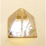 Pyramid Carved Fetish Bead 0.75 Inch - Clear Quartz
