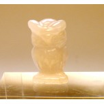 Owl 1 Inch Figurine - Rose Quartz