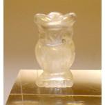 Owl 1 Inch Figurine - Clear Quartz