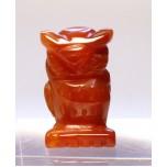 Owl 1 Inch Figurine - Carnelian Agate
