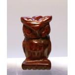 Owl Carved Fetish Bead 0.75 Inch - Rainbow Jasper