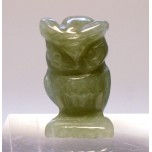 Owl Carved Fetish Bead 0.75 Inch - Aventurine