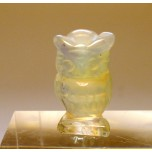 Owl Carved Fetish Bead 0.75 Inch - Opalite