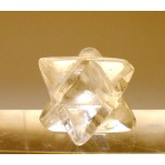 Merkaba Carved Fetish Bead 0.75 Inch - Clear Quartz