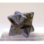 Merkaba Carved Fetish Bead 0.75 Inch - Sodalite