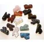 Horse Sitting 1 Inch Figurine - Assorted Stones
