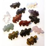 Lizard 1 Inch Figurine - Assorted Stones