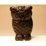 Owl 1.5 Inch Figurine - Obsidian Black