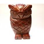 Owl 1.5 Inch Figurine - Rainbow Jasper