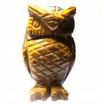Owl 2.25 Inch Figurine - Tiger Eye