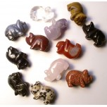 Pig 1 Inch Figurine - Assorted Stones