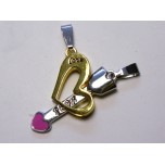 BFF Charms - Set of 2 - Heart and Arrow Style 2