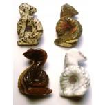 Snake (Cobra) 1.5 Inch Figurine - Assorted Stones