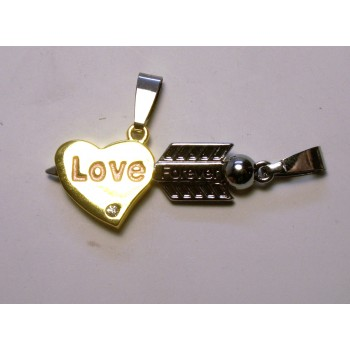 BFF Charms - Set of 2 - Heart and Arrow -  Style 1