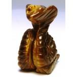 Snake (Cobra) 1.5 Inch Figurine - Tiger Eye