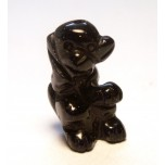 Monkey Carved Fetish Bead 0.75 Inch - Blue Goldstone