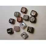 Dice Carved Fetish Bead 0.75 Inch - Assorted Stones