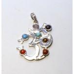 Chakra Pendant Style 1 - Silver