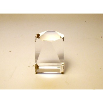 4cm x 4cm x 5cm Faceted Crystal Display/Stand