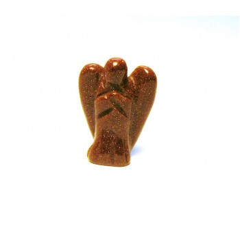Angel Carved Fetish Bead 0.75 Inch - Goldstone