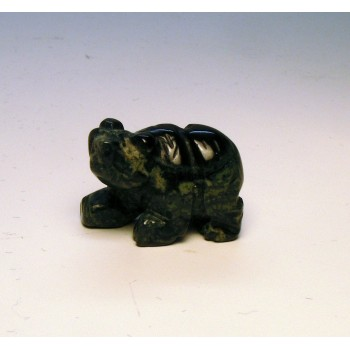 Bear Walking Carved Fetish Bead 0.75 Inch - Kambaba