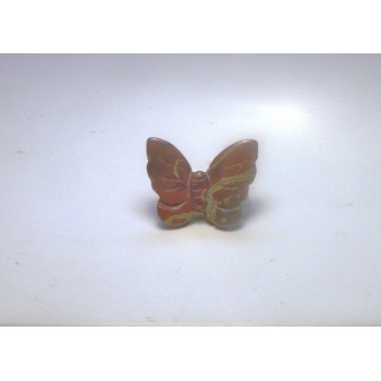 Butterfly Carved Fetish Bead 0.75 Inch - Rainbow Jasper