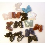 Butterfly Carved Fetish Bead 0.75 Inch - Assorted Stones