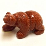 Bear Walking 2.25 Inch Figurine - Goldstone