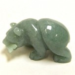 Bear with fish 2.25 Inch Figurine - Aventurine