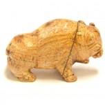 Buffalo 2.25 Inch Figurine - Picture Jasper