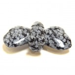 Bumble Bee 2.25 Inch Figurine - Snowflake Obsidian
