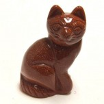 Cat Sitting 2.25 Inch Figurine - Goldstone