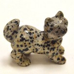 Cat Walking 2.25 Inch Figurine - Dalmatian Dacite Dalcite