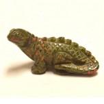 Chameleon 2.25 Inch Figurine - Unakite