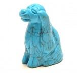 Dog (Cocker Spaniel) 2.25 Inch Figurine - Howlite Turquoise