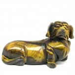 Dog (Dachshund) 2.25 Inch Figurine - Tiger Eye