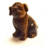 Dog (Pug) 2.25 Inch Figurine - Tiger Eye