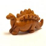 Dinosaur (Stegosaurus) 2.25 Inch Figurine - Brownstone